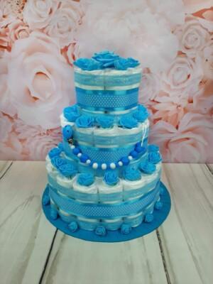 sinine kolmekorruseline lutiketiga mähkmetort