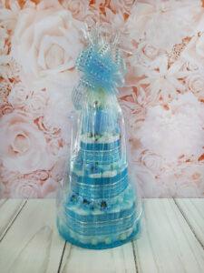sinine mähkmetort kaisutekiga baby shower