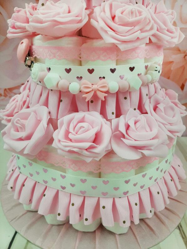roosa mähkmetort roosidega 2