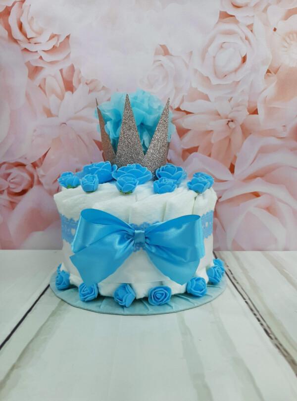 sinine pisike mähkmetort krooniga 1