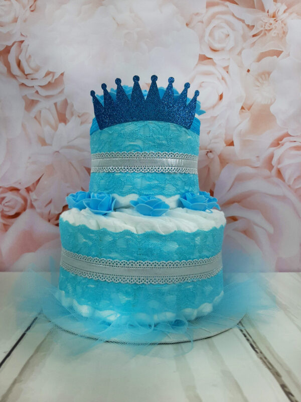 sinine mähkmetort krooniga