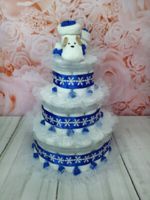 Sinine Mähkmetort lumehelvestega